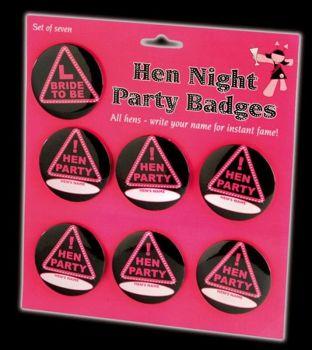 Hen Night Party Badge set