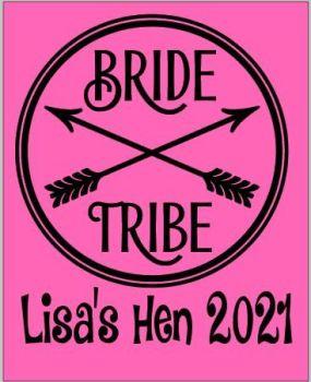 Bride Tribe Hen TShirt (circular design)
