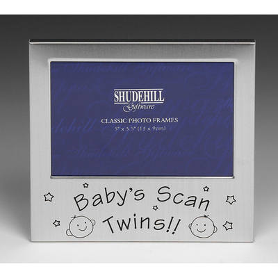Twin scan photo frame - Twin gifts at Churchtown Gifts Ireland
