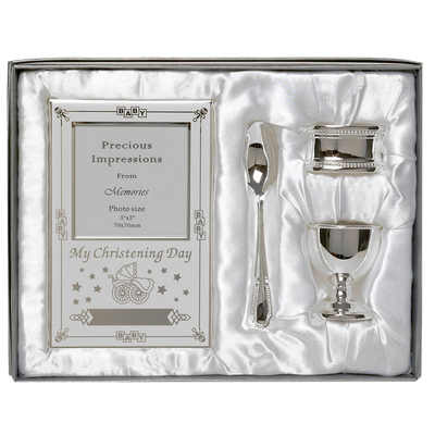 Silver plated christening gift set godparent gift baby gifts ireland - Gifts for baby christening ideas ...