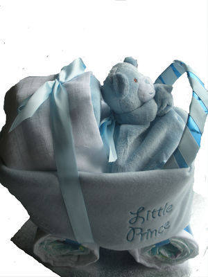 Nappy Cake Pram/Carriage for Boy