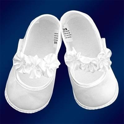 Satin Christening shoes - girls