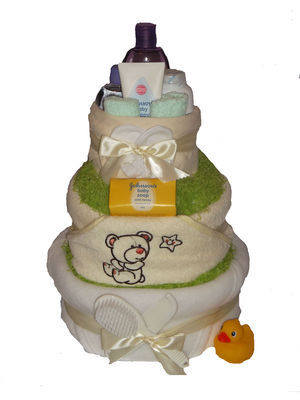 Baby Bath Time Nappy Cake