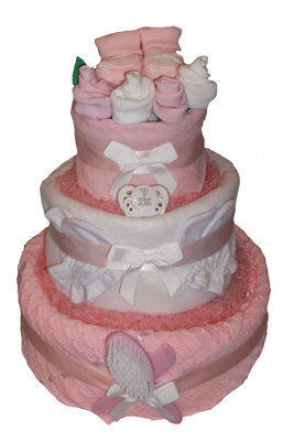 Simple three tier pink