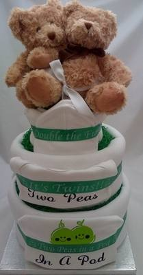 Two Peas in a Pod Nappy Cake