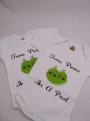 Two Peas in a Pod Baby Onesies