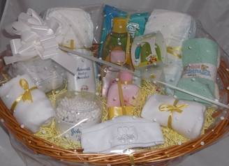 Baby gift basket baby gift hamper baby hamper ireland neutral baby basics gift hamper johnsons churchtown gifts ireland 012 negle Images