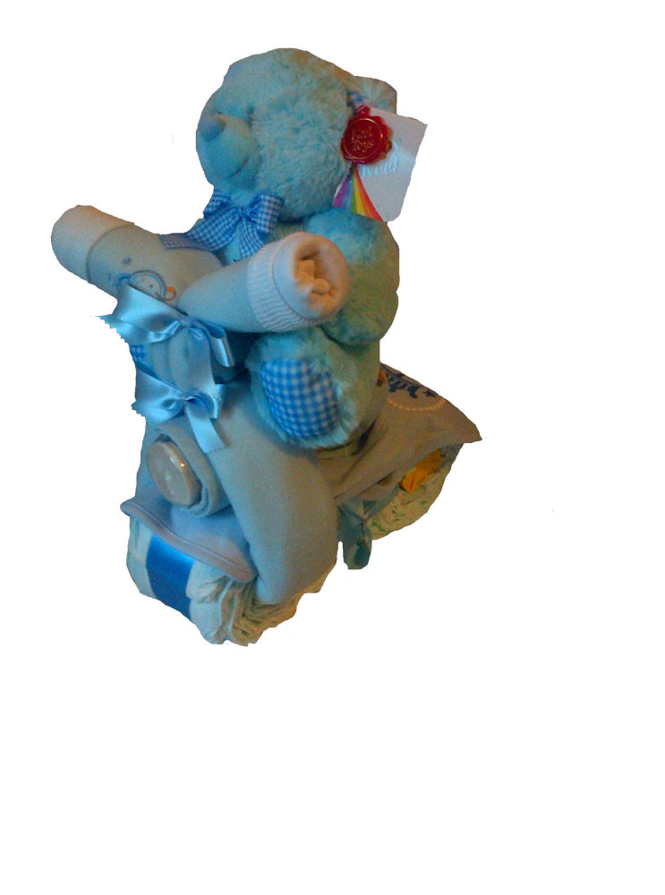 Billy the Bear and his Nappy Cake Bike