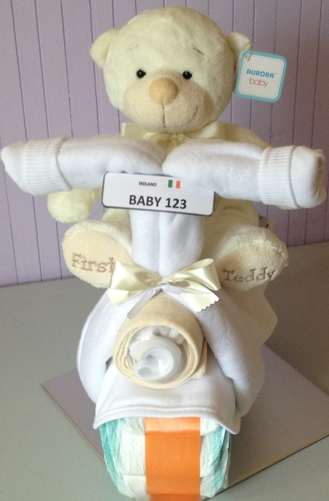 Neutral Baby Gifts Ireland : Neutral bike motorbike nappy cake great baby shower gift