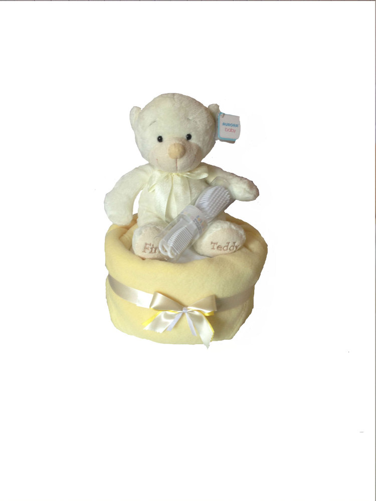 Welcome Baby Neutral  Nappy Cake