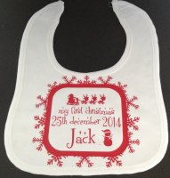 Personalised Christmas Bib