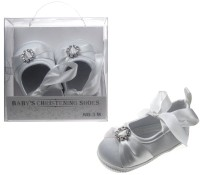 Girls Christening Shoes with Diamante