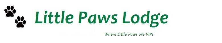 Little Paws Lodge, site logo.