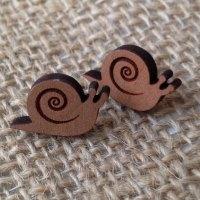 Snail wooden studs