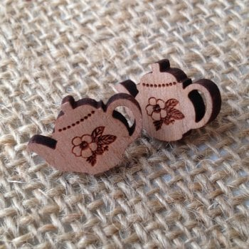 Tea-pot wooden studs