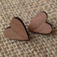 Heart wooden studs