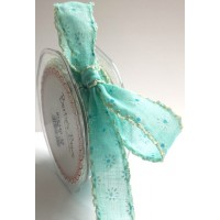 Bertie bows daisy ribbon pastel blue 25mm