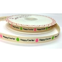 Bertie bows happy easter ribbon 9mm