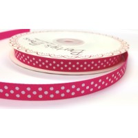 Bertie bows pink polka dot ribbon 9mm