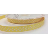 Bertie Bows yellow polka dot ribbon 9mm