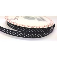 berties bows black polka dot ribbon 9mm