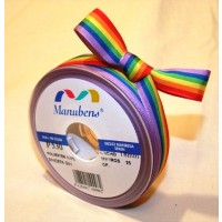 Rainbow ribbon 16mm