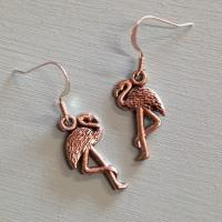Flamingo earrings
