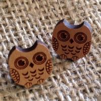 Owl wooden studs