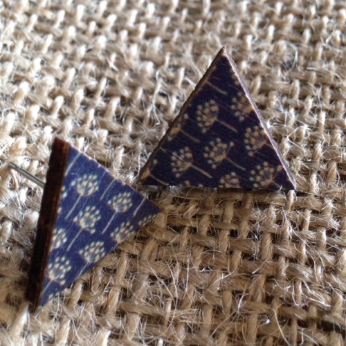 Blue Danilion Wooden Studs