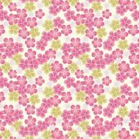 Tropicana Flowers Pink Fabric Lewis & Irene