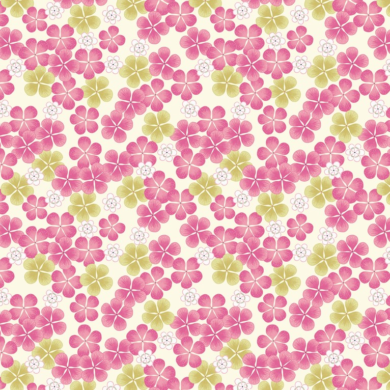Tropicana Flowers Pink Fabric Lewis & Irene