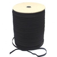 7mm black elastic