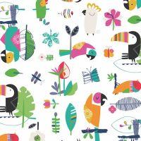 Dashwood Studio Tropical Toucans Cotton Fabric