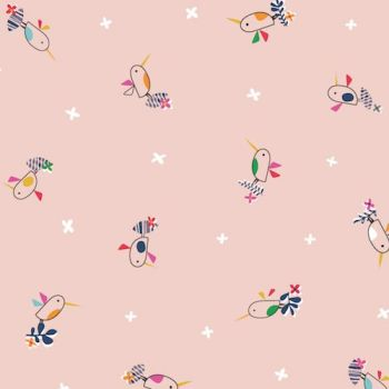 Tropical Birds Pink