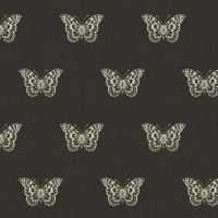 Makower Butterfly Black