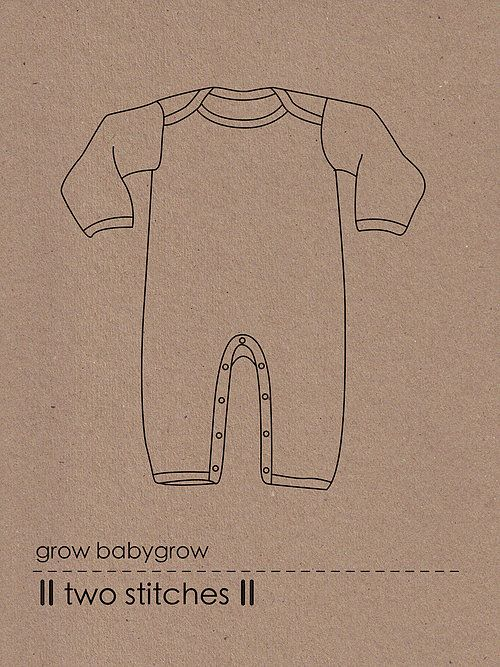 Two Stitches Grow Babygrow