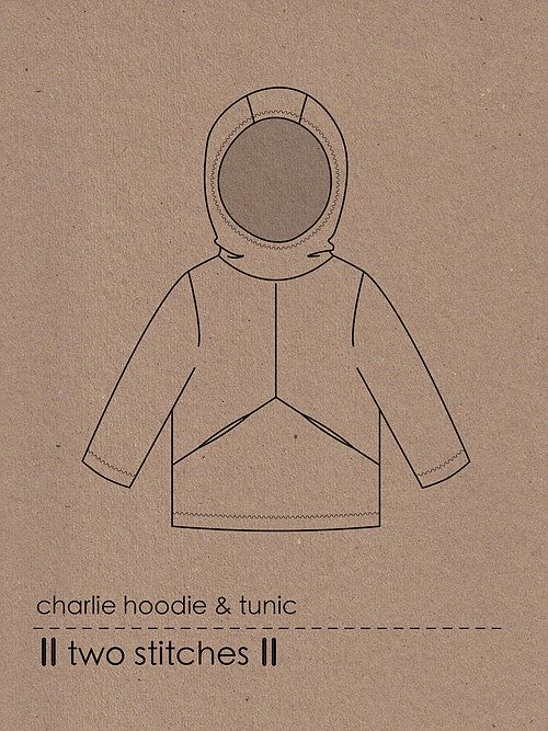 Two Stitches Charlie Hoody and Tunic Children's Pattern