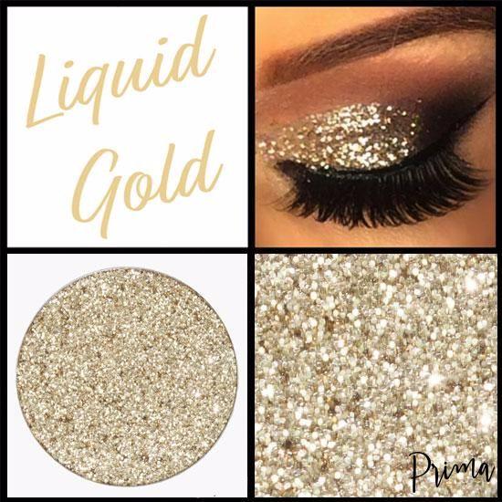 Liquid Gold Glitter Prima Makeup
