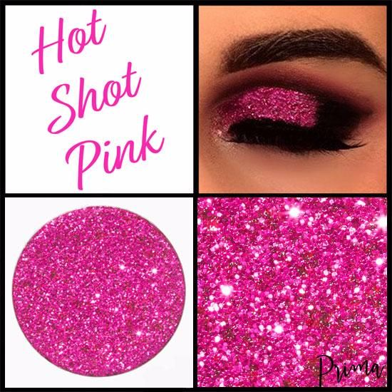 Hot Shot Pink Glitter Shadow
