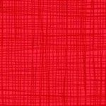 Makower Linea Texture True Red Cotton Fabric