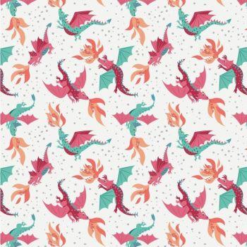 Dragons flying
