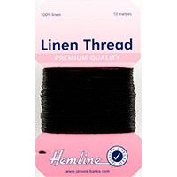 Hemline Linen Thread 10m - Black