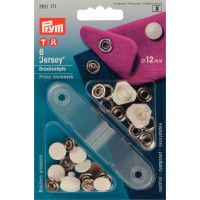 Prym Non Sew Fasteners Jersey Pearl Cap 12mm