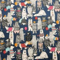 Bears Laminated Fabric