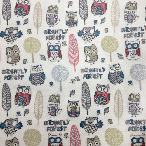 Owls Laminated Fabric