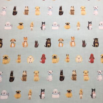 Dogs Laminated Fabric