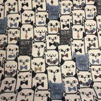 Cartoon Cats Laminated Fabric