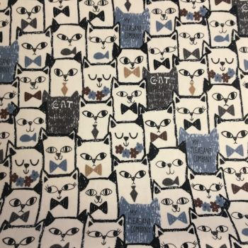 Cartoon Cats Laminated Fabric