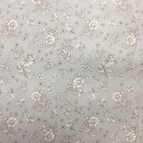 Small Floral Laminated Fabric