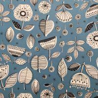 Retro Flower Laminated Fabric